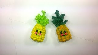 3-D Happy Pineapple Tutorial (Rainbow Loom)
