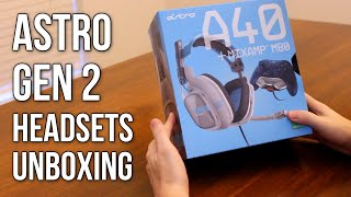 astro gen 2 headsets unboxing a50 a40 mixamp m80 mixamp pro a30