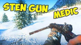 Battlefield 5 Open Beta - Sten Gun Medic Kit Gameplay