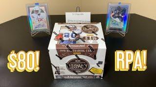 2019 Panini Legacy Football Hobby Box Break - RPA! $80 Per Box!
