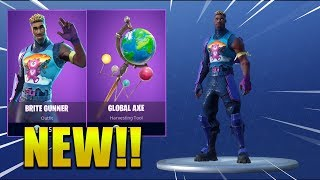 'NEW' BRITE GUNNER SKIN ' Global Axe !? Fortnite Battle Royale !