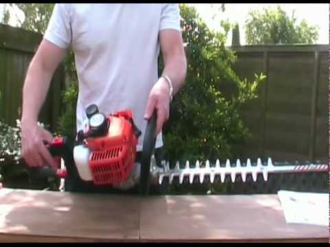 Petrol hedgetrimmer AMA AG1 HT60R Mower Mart hedge cutter video