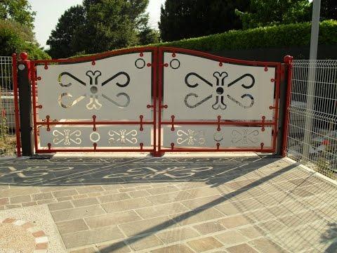 видео: Универсальные распашные ворота. Ворота для дома