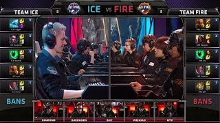 Team Ice vs Team Fire - Pick 10 match | All-star Challenge Paris 2014 Day 3(Analyst desk here: https://www.youtube.com/watch?v=OJ8pdobITFQ Next Match of the Day - Cloud 9 vs OMG Game 1: ..., 2014-05-10T12:19:30.000Z)