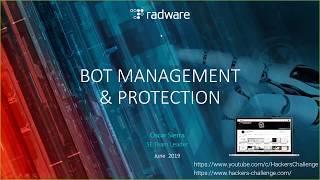 Webinar Radware Bot Manager- Demo en vivo