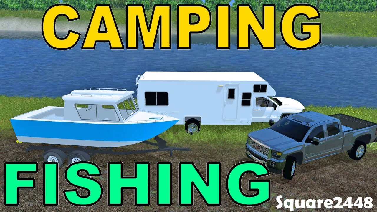 Farming Simulator 17 Fall Camping Amp Fishing New Boat