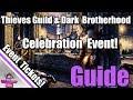 ESO:  Thieves Guild & Dark Brotherhood Celebration Event Guide!