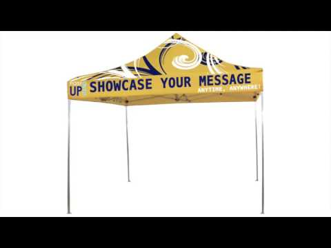 Post-Up Stand Custom Printed Canopy Tent Production