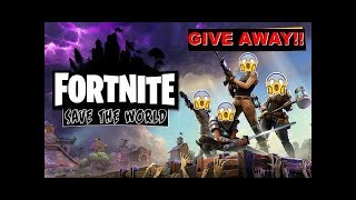 * Ps4 / PC * Fortnite STW MASSIVE Giveaway!!!