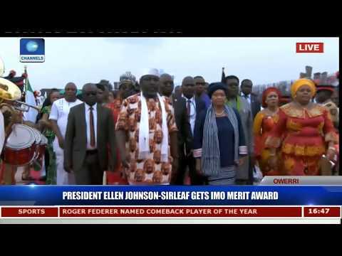 President Ellen Johnson-Sirleaf Gets Imo Merit Award Pt.7