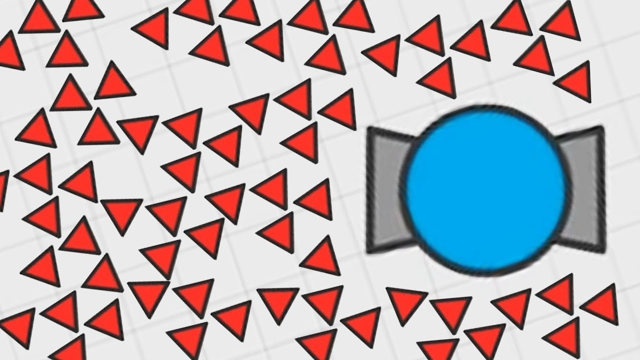 CONTROLLING A TRIANGLE ARMY IN DIEP.IO! (Diep.io)