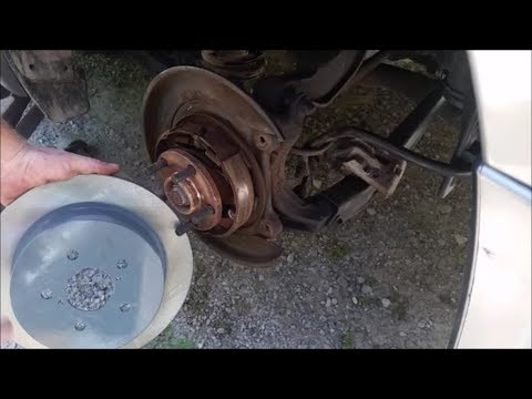 How To Replace The Rear Pads And Rotors On A Subaru