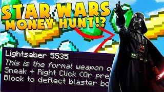 STAR WARS MINECRAFT LUCKY BLOCK MONEY HUNT - Modded Minigame