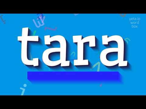 "How to say ""tara""! (High Quality Voices)"