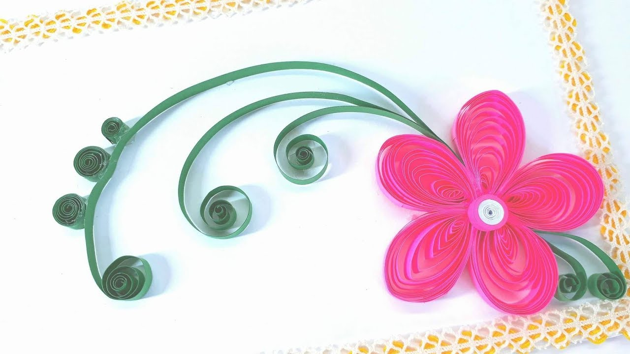 Paper Quilling Greeting Cards Flower Hand Works Crafts