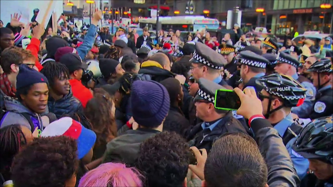 Protesters & Police In Chicago Clash After Officer Fatally Shoots Man