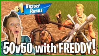 50v50 Victory Royale with FREDDY!