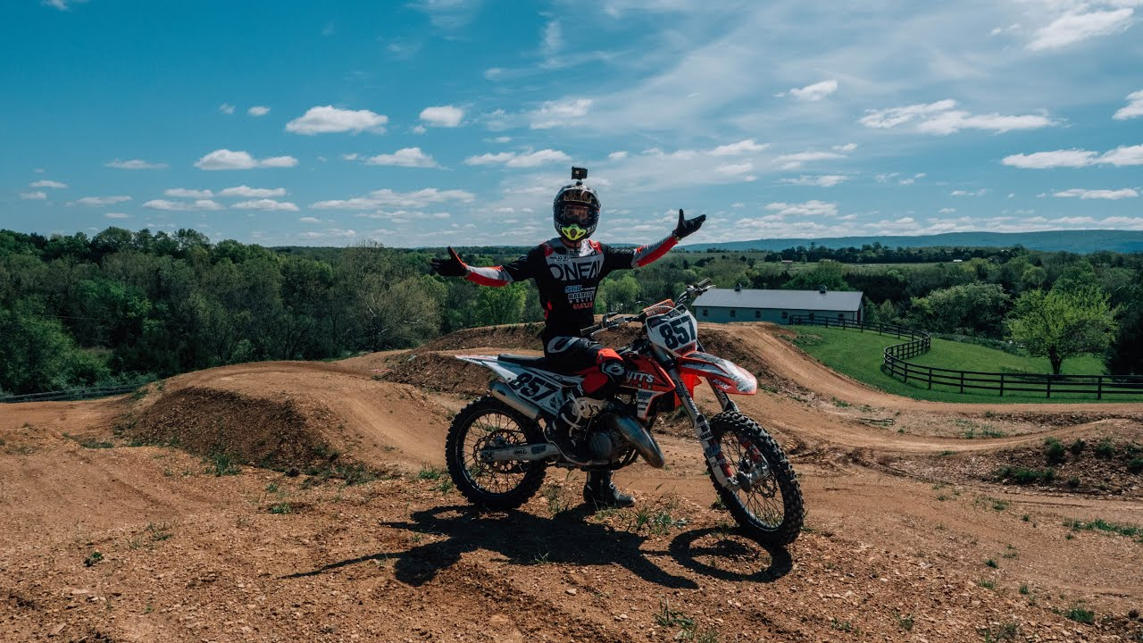 Amazing private motocross track! || Riding Daniel's house on a 2020 KTM125