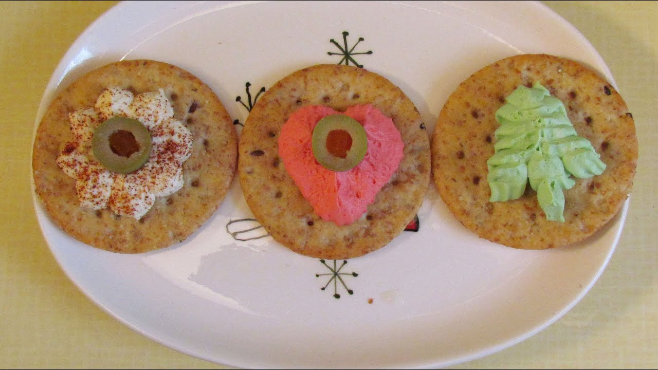 Cookie Press Cheese Appetizers - Recipe from the 1950's