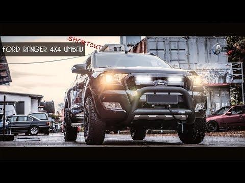 """Ford Ranger 4x4 Umbau Frontbügel Winde LED 18"""" AT"""