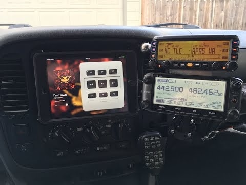 Tour of the Center Stack: iPad and Ham radio install Land Cruiser 100