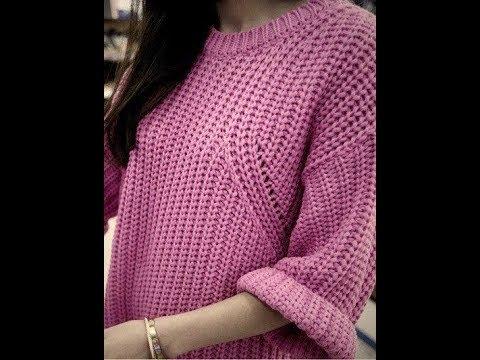 Пуловер Английской Резинкой Спицами для Женщин - 2019 / Pullover English Eraser Knitting Needles