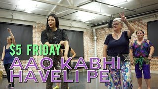 Aao Kabhi Haveli Pe (Stree) with Easy Beginner Dance Choreography | Dance Masala