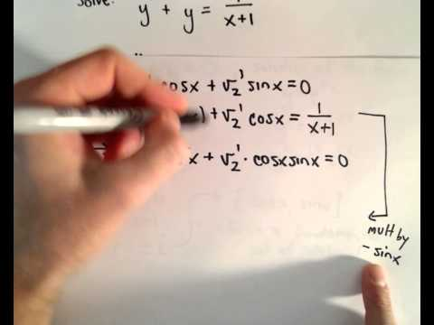 Variation of Parameters to Solve a Differential Equation (Second Order) , Ex 2