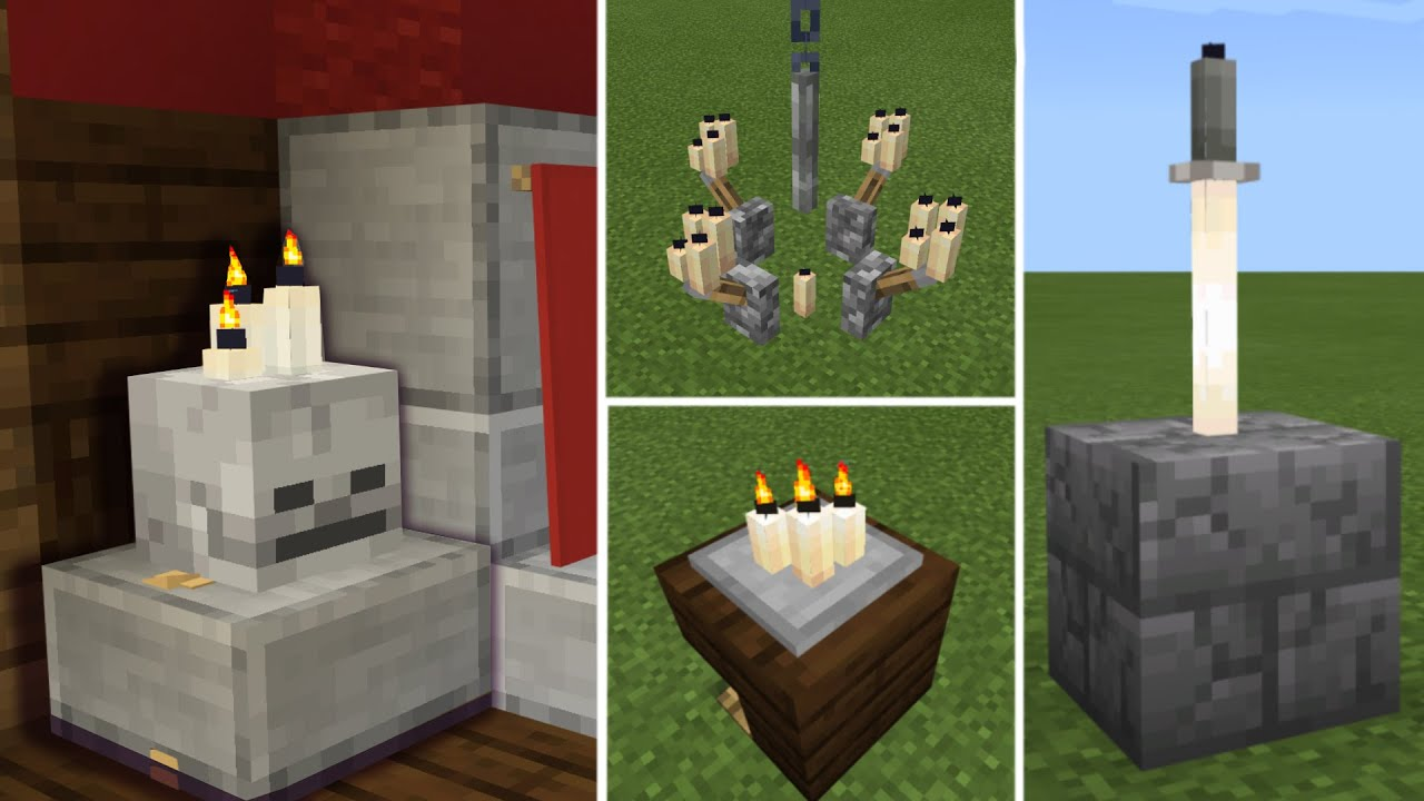 Minecraft Build Hacks: Candles, minecraft 1.17 Build tips