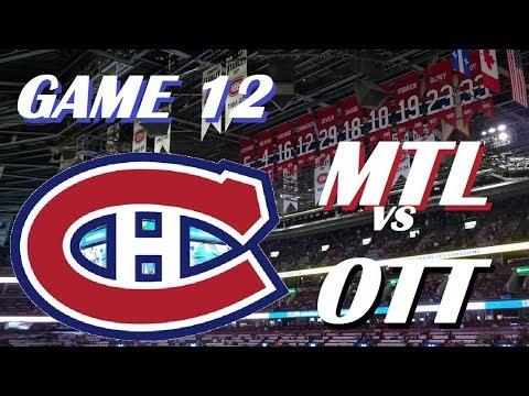 NHL - Montreal Canadiens vs Ottawa Senators - Back-to-Back Wins! - October 30, 2017