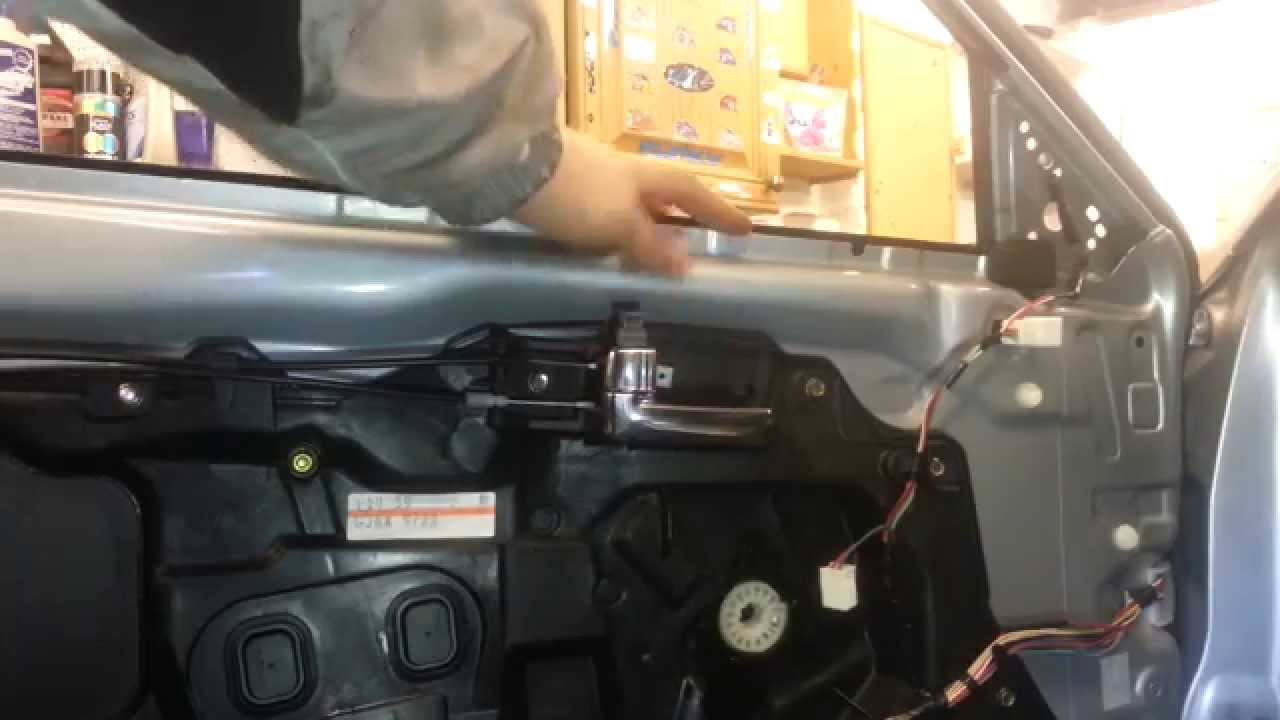 How To Change Replace Front Door Window Mazda 6 2005 Youtube Power Wiring Harness
