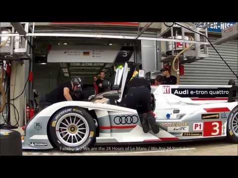 Audi R18 e-tron quattro - Pit stop training (HD)