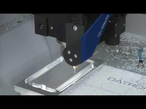 DATRON neo Milling Aluminum Smartphone Housing Prototype - YouTube