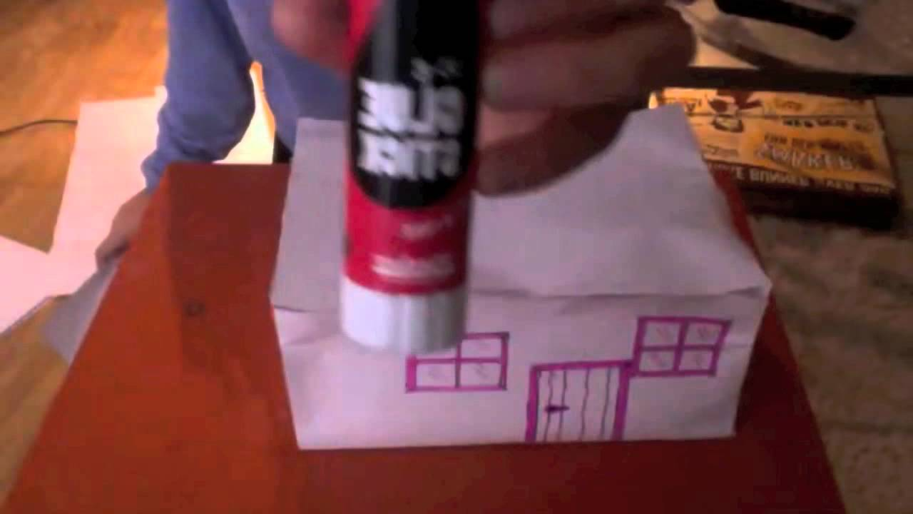 how to make a paper house easy