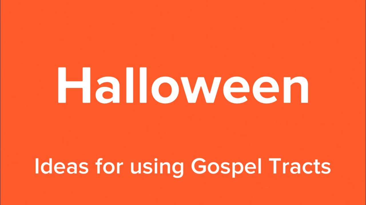 graphic relating to Free Printable Gospel Tracts identified as Halloween Tracts Occasions With The Ebook
