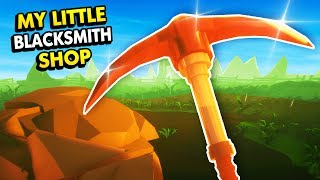 MINING UPDATE IN MY LITTLE BLACKSMITH SHOP! (My Little Blacksmith Shop Funny Gameplay)