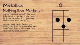 Metallica - Nothing Else Matters UKULELE TUTORIAL W/ LYRICS