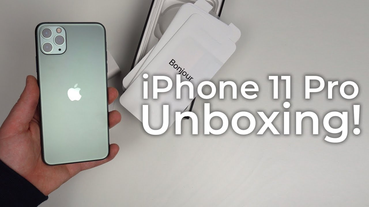 iPhone 11 Pro Max Unboxing , Midnight Green