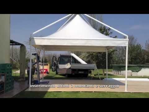 Montaggio gazebo mt 5 x 5 youtube for Gazebox prezzo