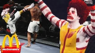 Ronald McDonald Is Back and Giving Everyone Combos! EA Sports UFC 2 Online Gameplay