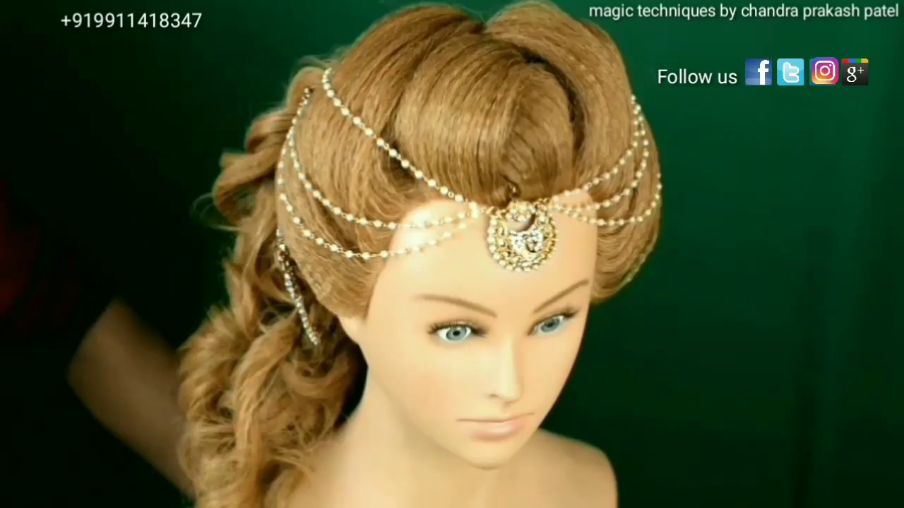 Engagement Hairstyle With Unique Front Magic Techniques By Chandra