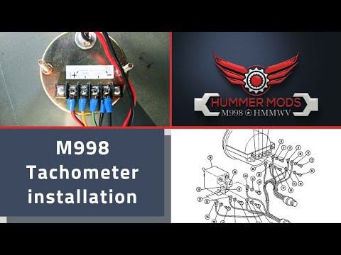 M998 Hmmwv Hummer Mods Tachometer Installation Video Rpm Humvee 6 5l