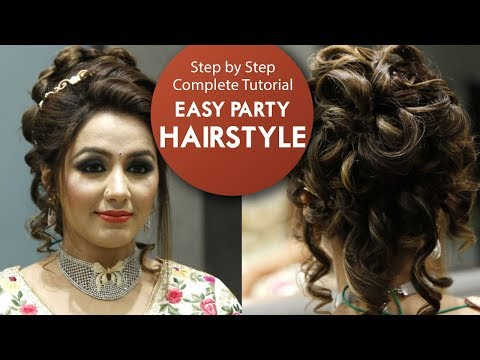 Easy Party Hairstyle Tutorial | Step By Step Bridal Hair Tutorial Video | Krushhh by Konica