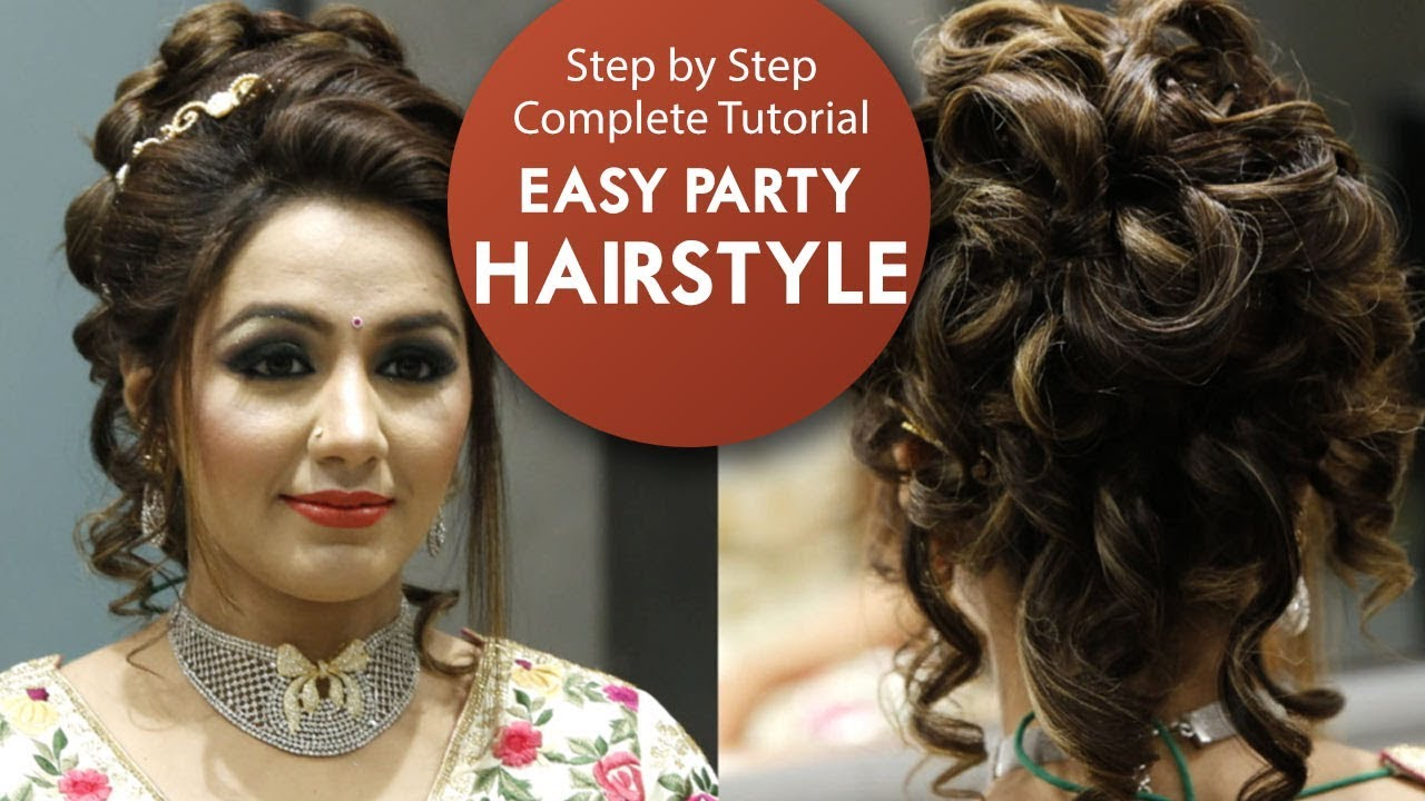 easy party hairstyle tutorial | step by step bridal hair tutorial