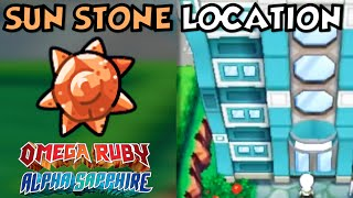 Where/How to obtain a Sun Stone (2 Ways) in Pokemon Omega Ruby and Alpha Sapphire