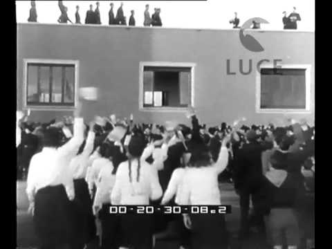 Mussolini inaugura Cinecittà