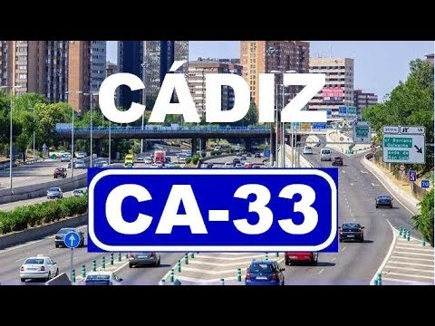 Cádiz  CA-33  (Sentido Cádiz , decreciente) , Bahía de Cádiz / Cádiz bay area - (westbound)