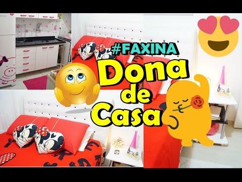 ROTINA DE DONA DE CASA FAXINA  com Minii Rosa