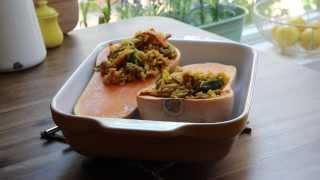 Vegetarian Recipes - How To Make Stuffed Butternut Squash