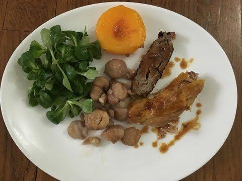 ❄[recette-de-fête]❄-pintade-farcie-aux-marrons-et-raisins-secs